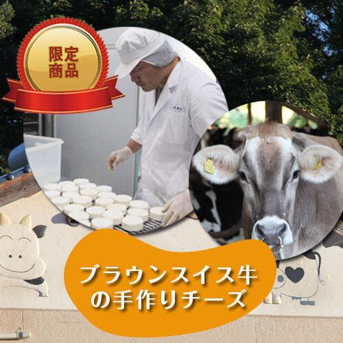 ブラウンスイス牛の生乳を使ってできたチーズ 限定商品